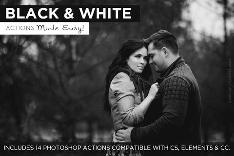 Black and White Actions Made Easy - outside site