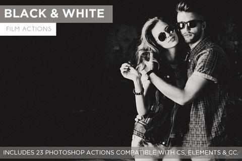 Black and White Film Action Set - outside site
