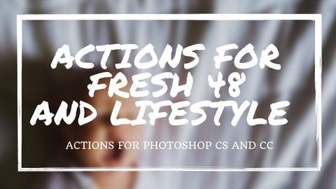 Actions for Fresh 48 and Lifestyle Sessions - outside site