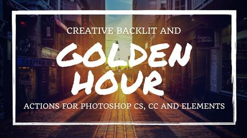 Creative Backlit Golden Hour Actions - Outside Site