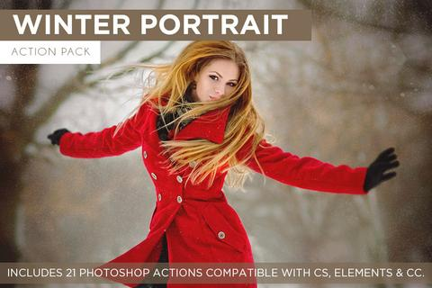Winter Portrait Action Pack - Outside Site