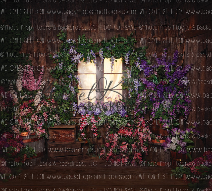 Cottage in Bloom 3 - 8x10 Polyester (Horizontal Design)