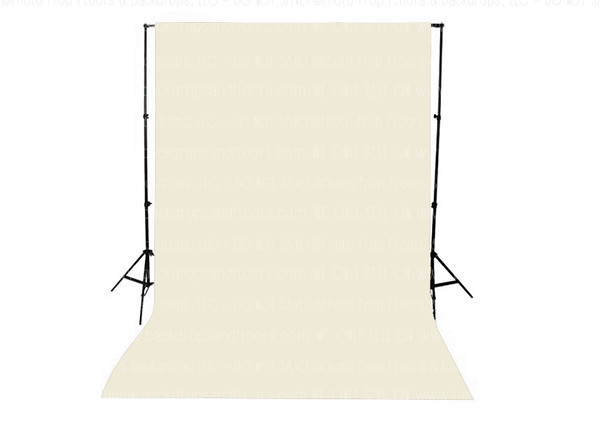 Cream Solid Color Seamless Matte Finish Fabric Photography Backdrop