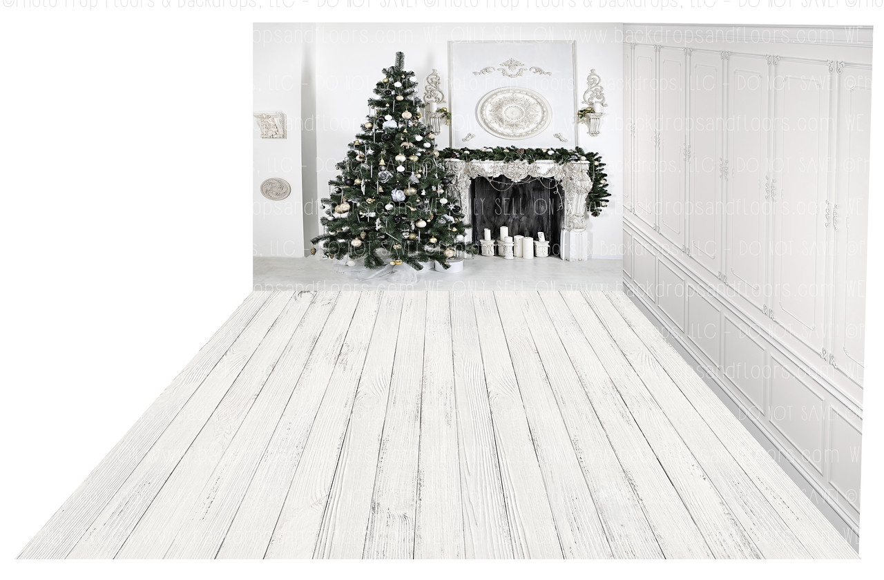 Holiday 1097 (Backdrop: 8x10 Sweatshirt Material) Wood Floor 1110 (Floor: 8x10 Non-Skid Floormat) Panel 5 (Right Wall: 8x8 Sweatshirt Material)
