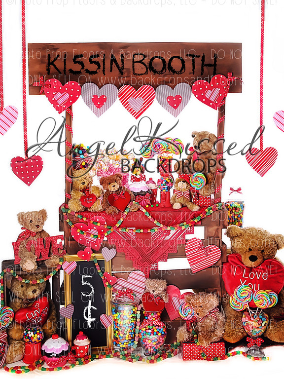 Kissin Booth 1 - 60x80 Fleece (Vertical Design)