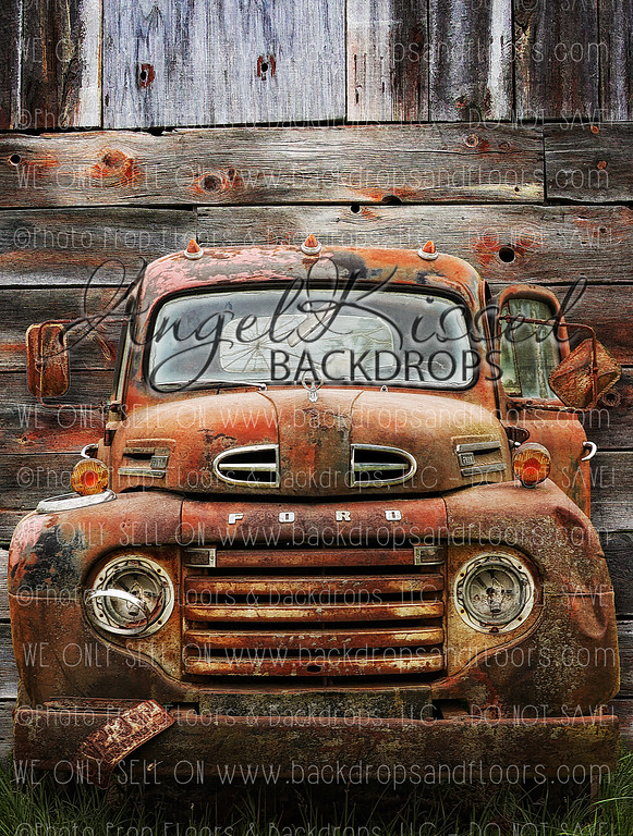 Old Barn Truck - 60x80  (Vertical Design)
