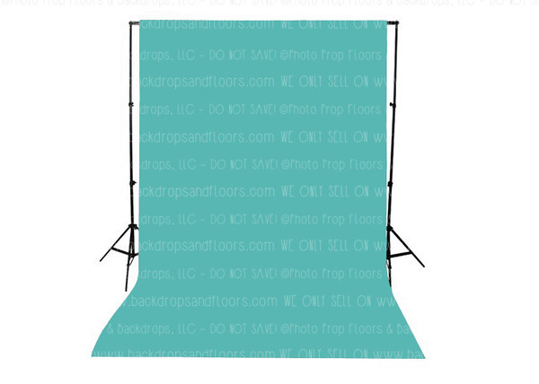 Teal Solid Color Seamless Matte Finish Fabric Photography Backdrop