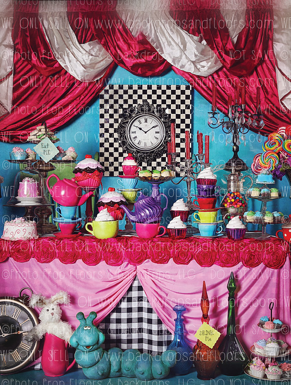 A Mad Tea Party - 60x80 Fleece (Vertical Design)