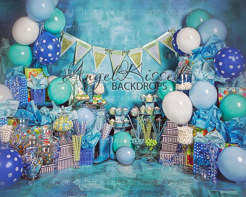 A True Blue Birthday 2 - 10x8 (Horizontal Design)