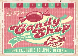 Candy Shop 10 (Horizontal Design)