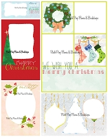 Christmas  (5-Pack Value Buy) Hand-Drawn Holiday Card Template by Rachel Hood Artist Visual Designer