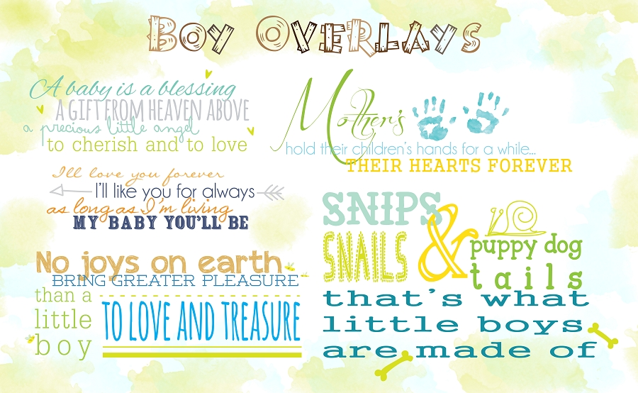 Boy Quotes Overlays by Rachel Hood