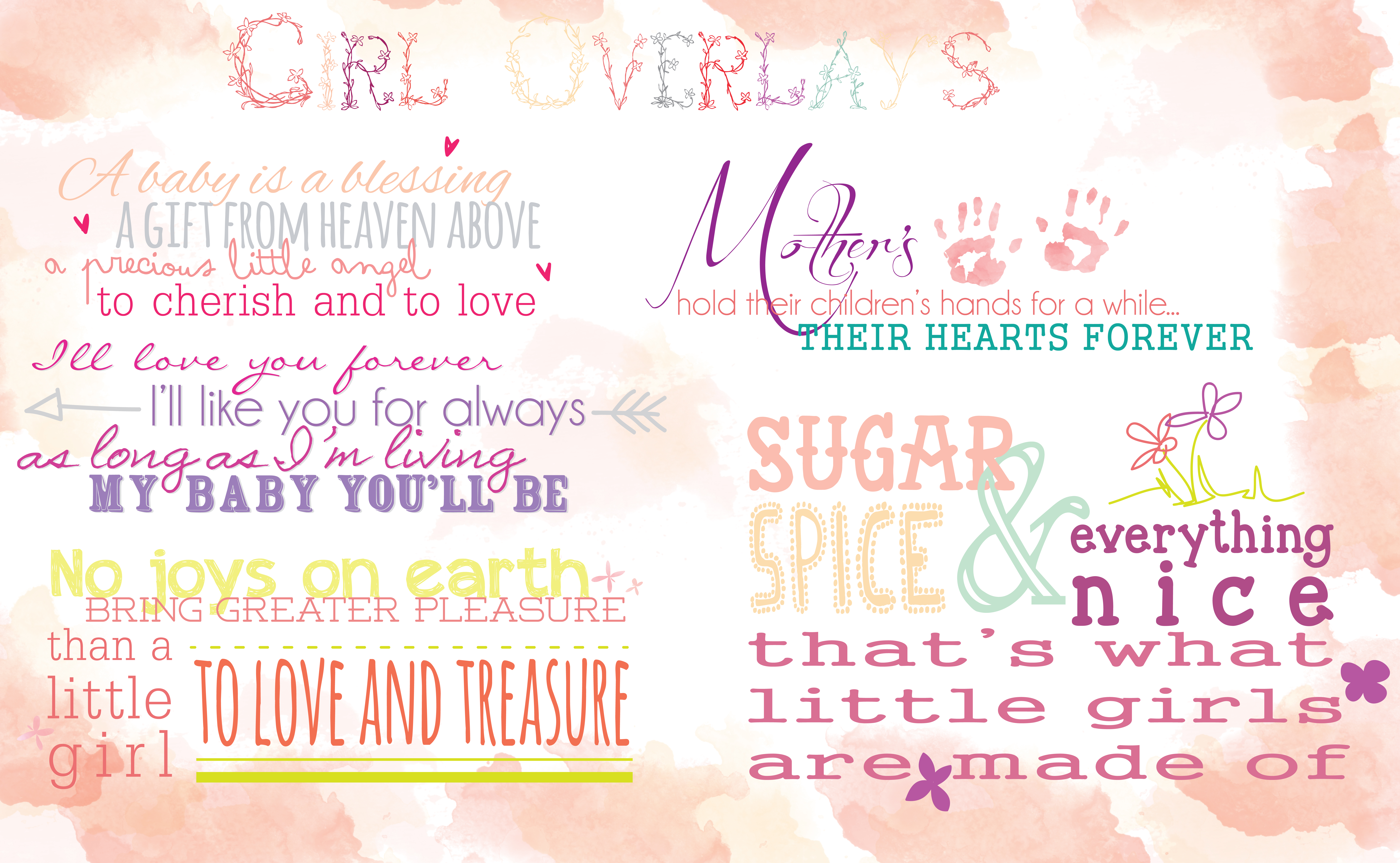 Girl Quotes Overlays by Rachel Hood