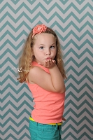 Teal & White Chevron Fabric Photography Backdrop