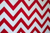 Red & White Chevron Fabric Photography Backdrop