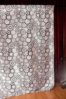 Black and White Mod Circles Fabric Photography Backdrop