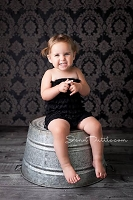 Black and Gray Damask Fabric Photography Backdrop