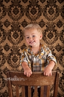 Gold and Black Damask Fabric Photography Backdrop