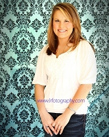 Teal and Black Damask Fabric Photography Backdrop