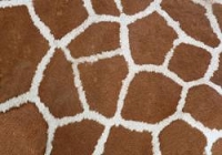 (U.S. / Canada Orders Only) Giraffe -  DESIGNER FAUX FLOOR, MATS/RUGS