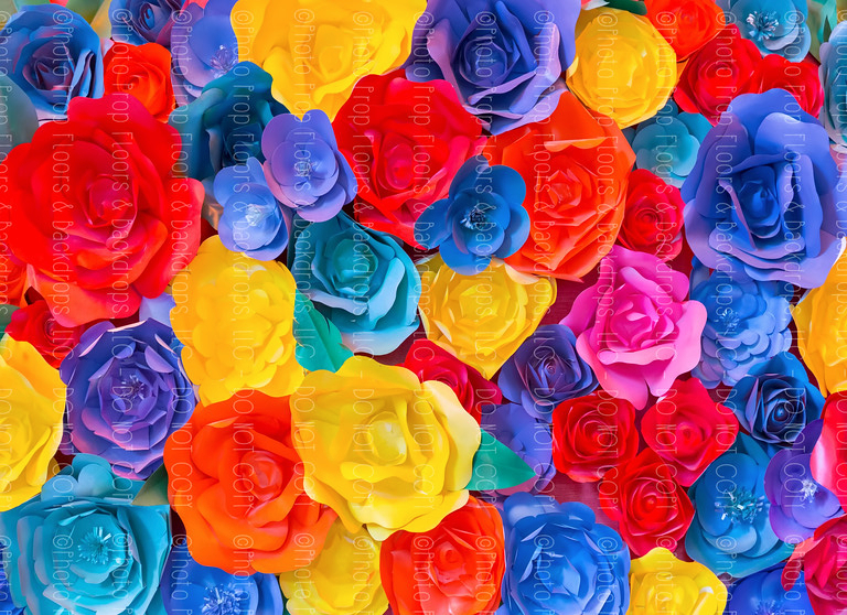 Paper Flowers 72 (Horizontal Design)