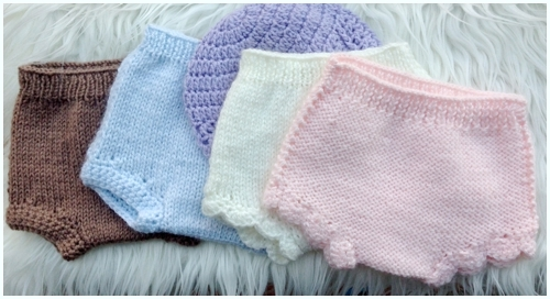 Knitting Patterns For Baby Diaper Covers : (TP) Baby Knit Diaper Cover