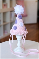 (TP) Birthday Hat Polka Dots on Pink