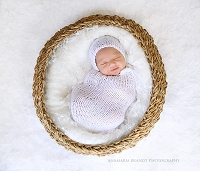 (TP) Baby Knit Sack and Bonnet