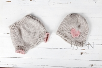 (TP) Little Love Valentines Knit SET Pink/Gray