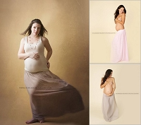 (TP) Double Layer Sheer Maternity Skirt