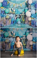 A True Blue Birthday 3 - 80x60 (Horizontal Design)