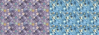 Floral 347 & Floral 348 (Overstock) 60x80 Double Sided Fleece