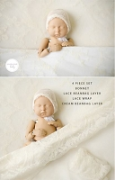 (TP) 4 Piece Lovely Lace Baby Set