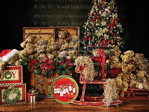 Beary Christmas 3 - 80x60 (Horizontal Design)