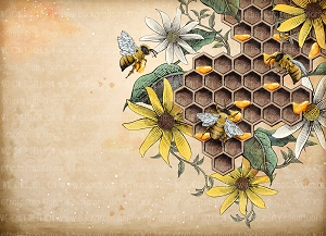 Bees 8 (Horizontal Design)