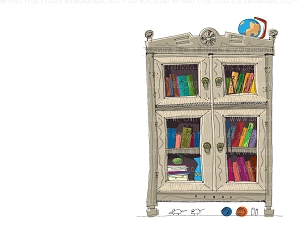 Bookcase 7 (Horizontal Design)