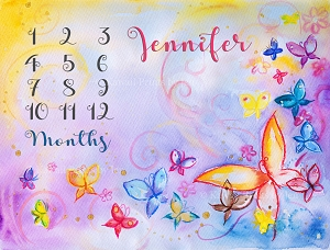 Butterflies Watercolor 3 (Horizontal Design)