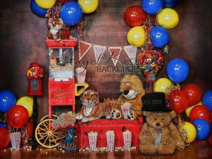 Circus Time 3 (No Curtain) - 80x60  (Horizontal Design)