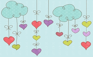 Hanging Hearts (Horizontal Design)