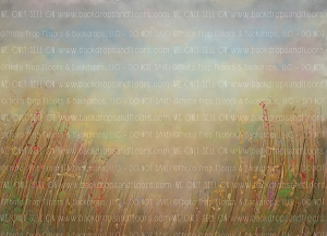 Painterly Spring Meadow (Horizontal Design)