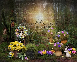Enchanted Spring Forest 2 - 10x8 (Horizontal Design)