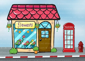 Flower Shop 4 (Horizontal Design)