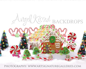 Gingerbread Kisses 80x60  (Horizontal Design)