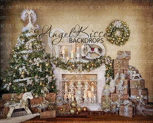 Golden Vintage Christmas 1 - 10x8 (Horizontal Design)