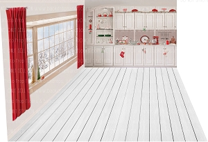 Rowena 396 (Backdrop: 8x10 Fleece Material) Wood Floor 1129 (Floor: 8x10 Non-Skid Floormat) Rowena 397 (Left Wall: 8x8 Fleece Material)