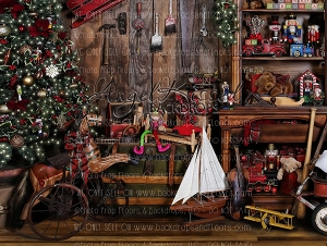 Santa's Workshop 2 - 80x60 (Horizontal Design)