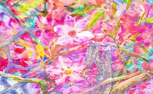 Water Color Flowers 2 (Horizontal Design)