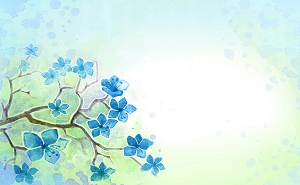 Water Color Flowers 5 (Horizontal Design)