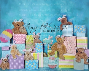 A Beary Hoppy Easter 2 - 8x10 Polyester (Horizontal Design)