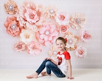 Flower Wall 1 - 80x60 (Horizontal Design)